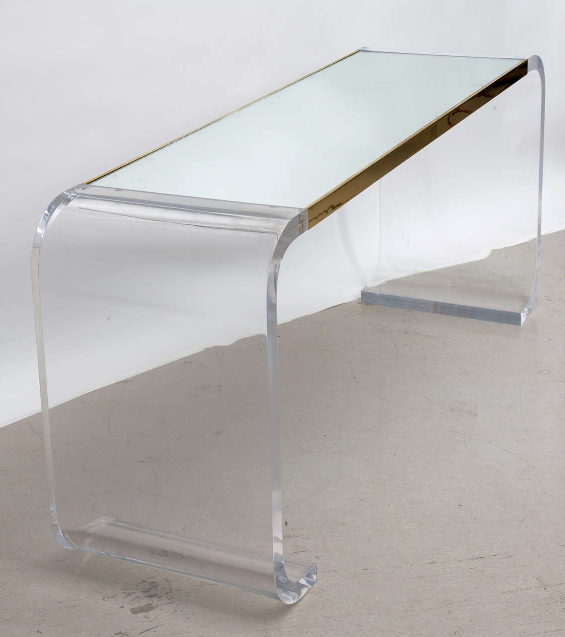 lucite waterfall console table at 1stdibs