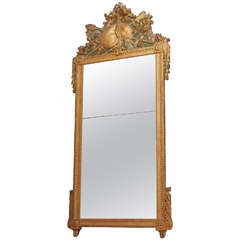18th Century Gilt Trumeau Mirror