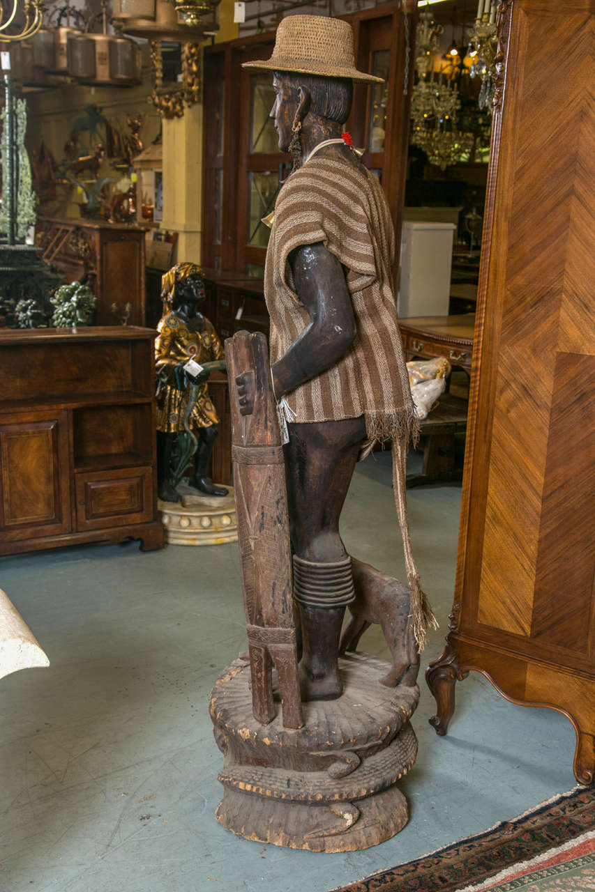 Carved Statue Head Hunter Ifugao Tribal Warrior For Sale