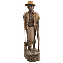 Carved Statue, Head Hunter Ifugao Tribal Warrior