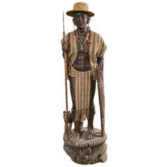 Carved Statue, Head Hunter Ifugao Tribal Warrior