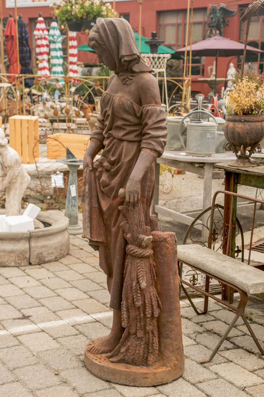 Large Cast Iron Lady Statue For Sale At 1stdibs
