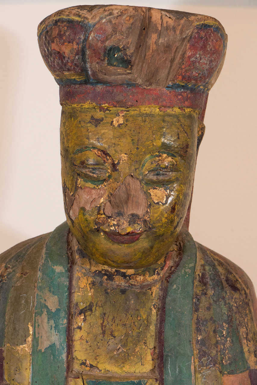 18th Century, Chinese Buddha In Good Condition For Sale In New York, NY