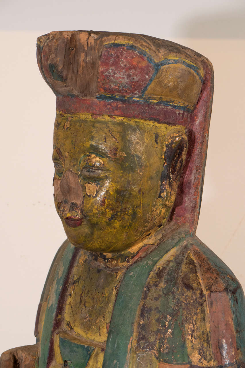 Pine 18th Century, Chinese Buddha For Sale