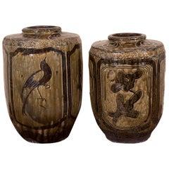 Antique Ceramic Food Jars