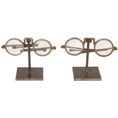 Antique Eyeglasses on Custom Stand