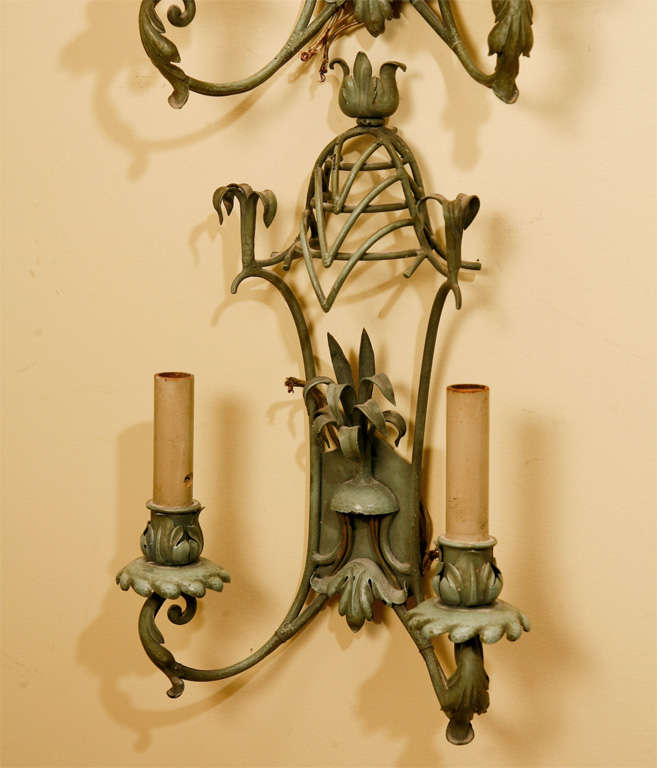 Japanese Wall Sconces: Pair Of Oriental Inspired Wall Sconces At 1stdibs