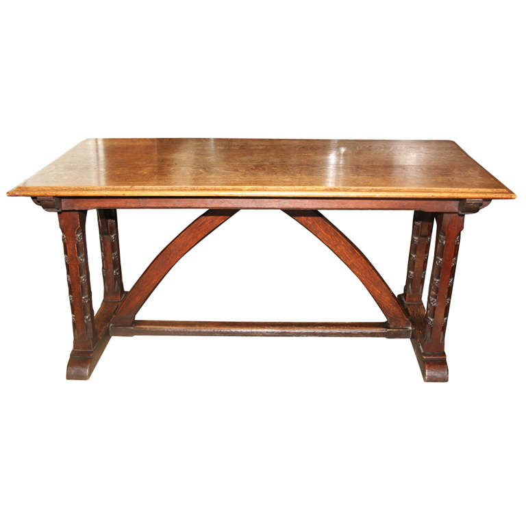 Oak puginesque table at 1stdibs for 1 oak nyc table prices