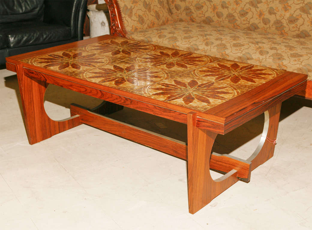 Danish Modern Tile-Topped Coffee Table 2