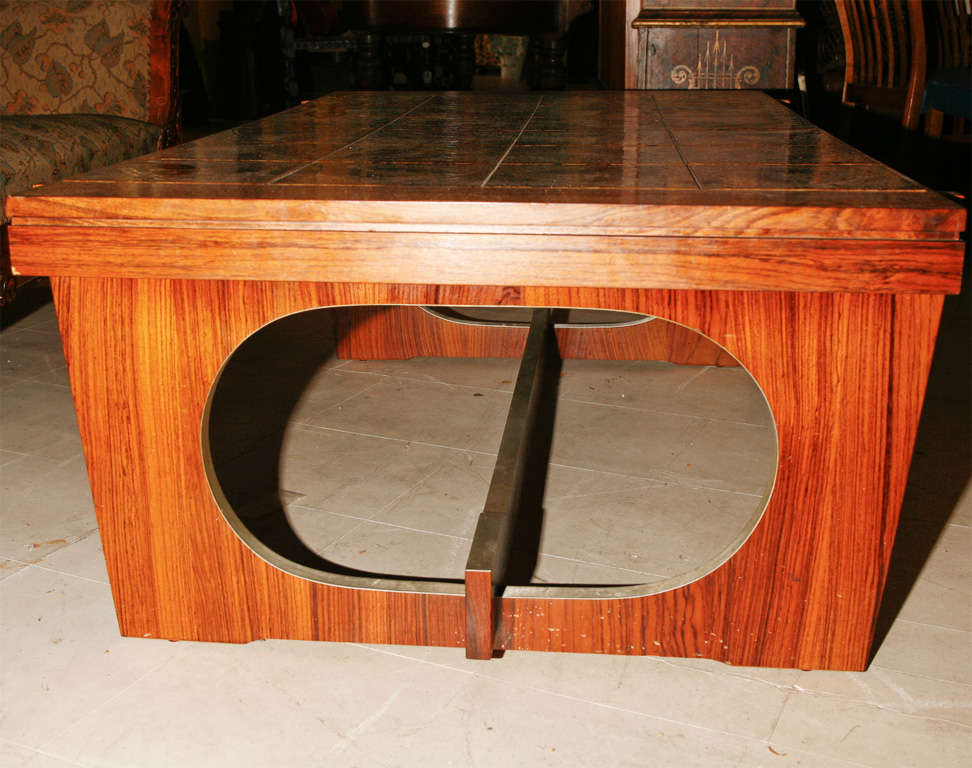 Danish Modern Tile-Topped Coffee Table 5