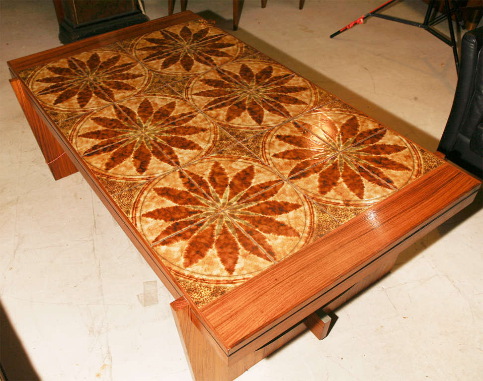 Danish Modern Tile-Topped Coffee Table 10