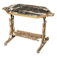 Circa 1920 Cast Iron Table Attributed to Oscar Bach