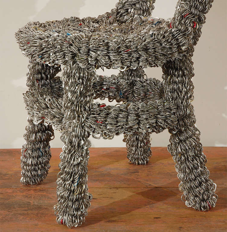 METAL CHAIR WRAPPED IN