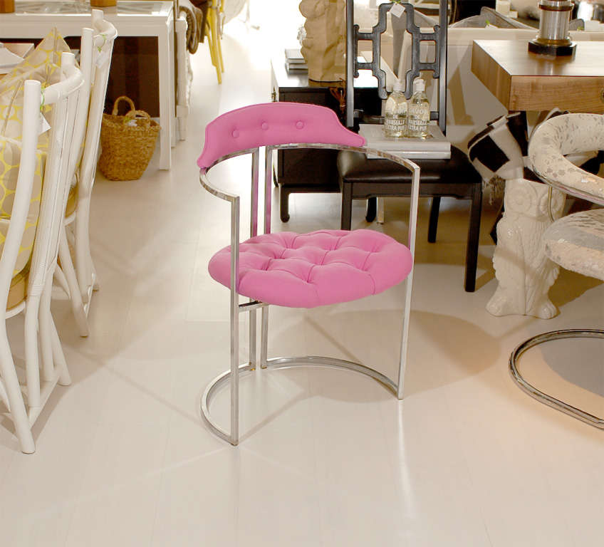 American Chrome Tufted Chairs