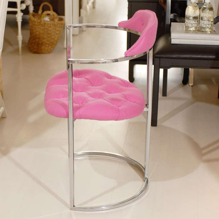 Aluminum Chrome Tufted Chairs