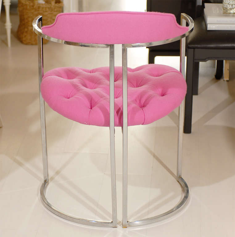 Chrome Tufted Chairs 1