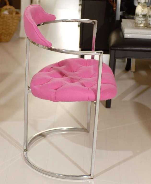 Chrome Tufted Chairs 2