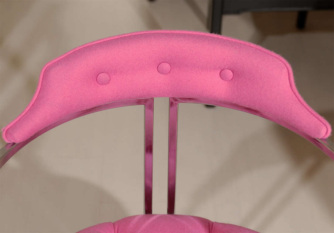 Chrome Tufted Chairs 4
