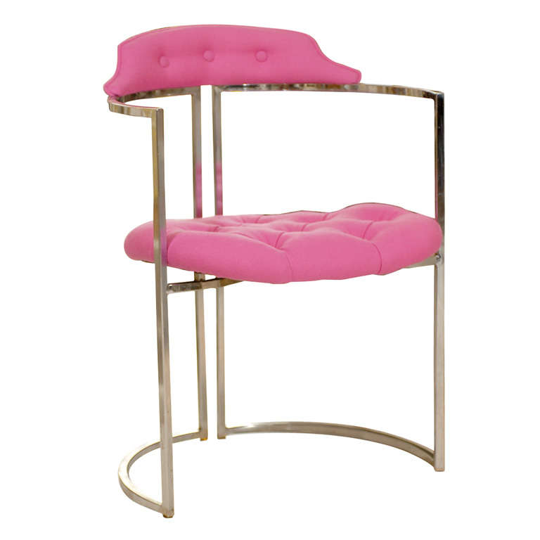 Chrome Tufted Chairs