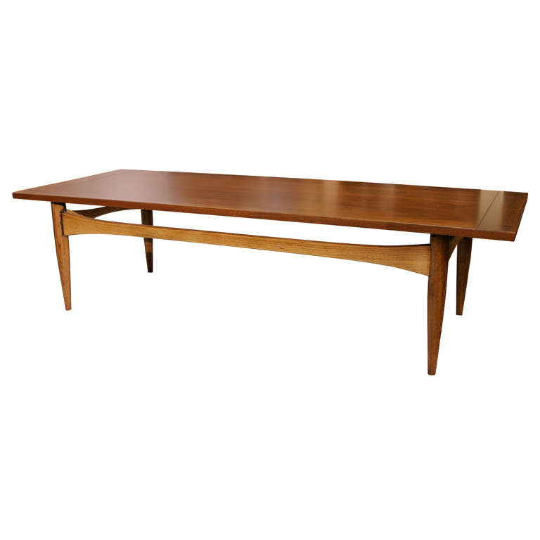 1960 39 s lane wood coffee table at 1stdibs. Black Bedroom Furniture Sets. Home Design Ideas