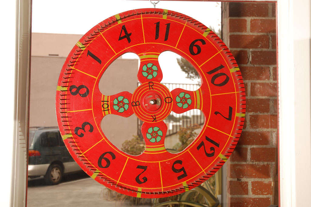 Vintage Gambling Wheel At 1stdibs