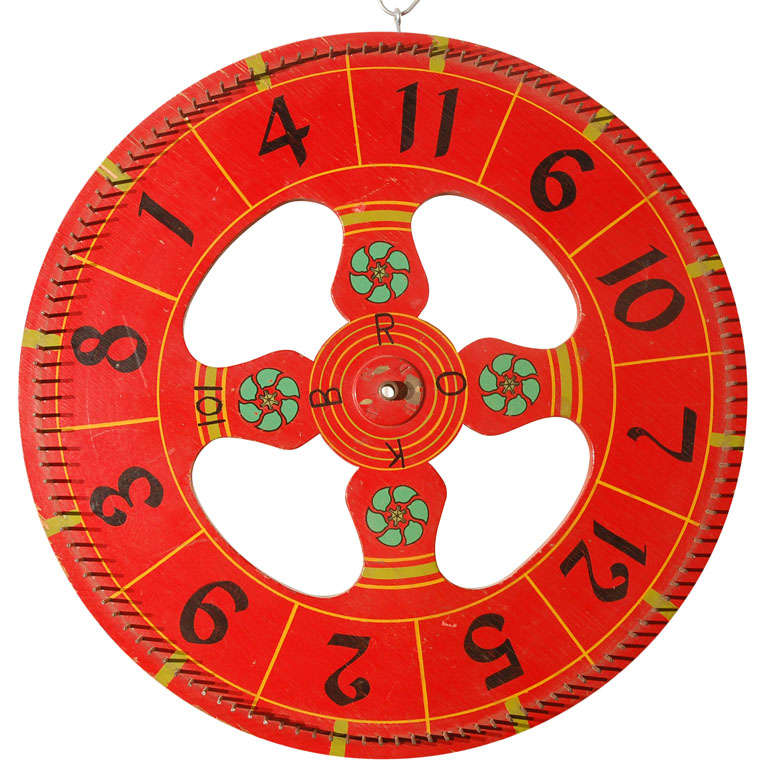 Vintage Gambling Wheel 1