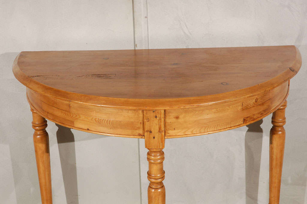 Other Pair Antique Pine Demi Lune Tables For Sale
