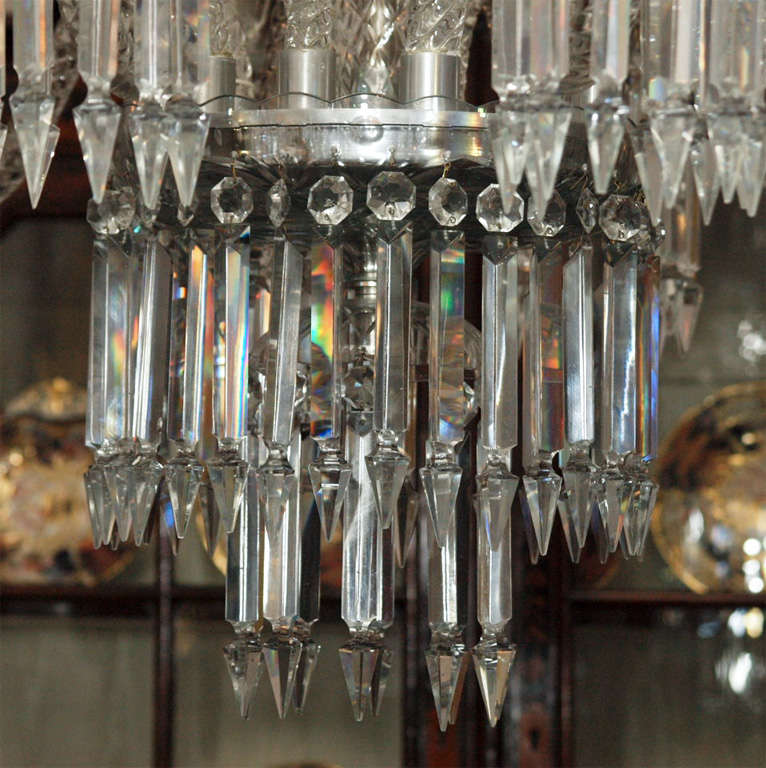 Antique Lead Crystal Old New Orleans Chandelier For Sale