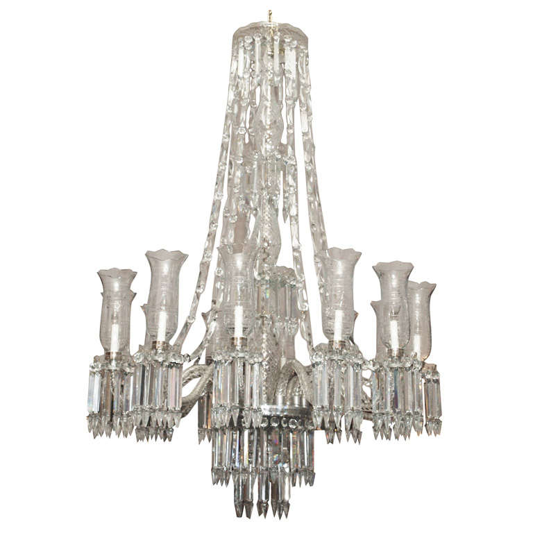 Antique Lead Crystal Old New Orleans Chandelier At 1stdibs