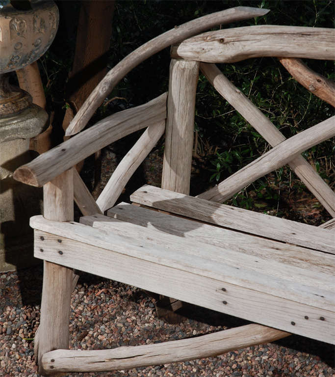 English Tree Limb Bench, Circa 1890 In Good Condition For Sale In Los Angeles, CA