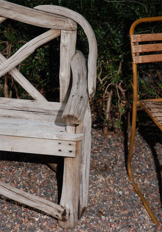English Tree Limb Bench, Circa 1890 5