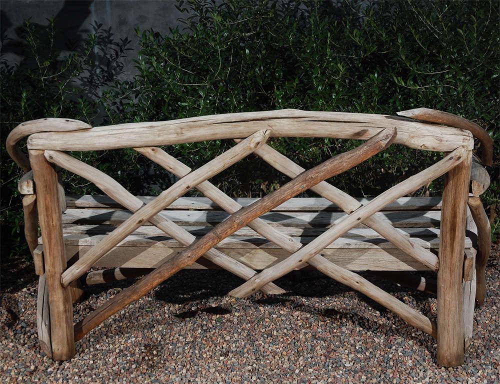 English Tree Limb Bench, Circa 1890 8