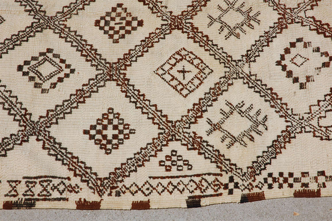 A Vintage Moroccan Tribal Rug image 3