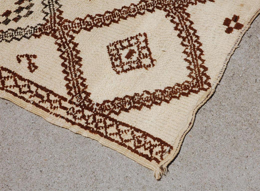 A Vintage Moroccan Tribal Rug image 4