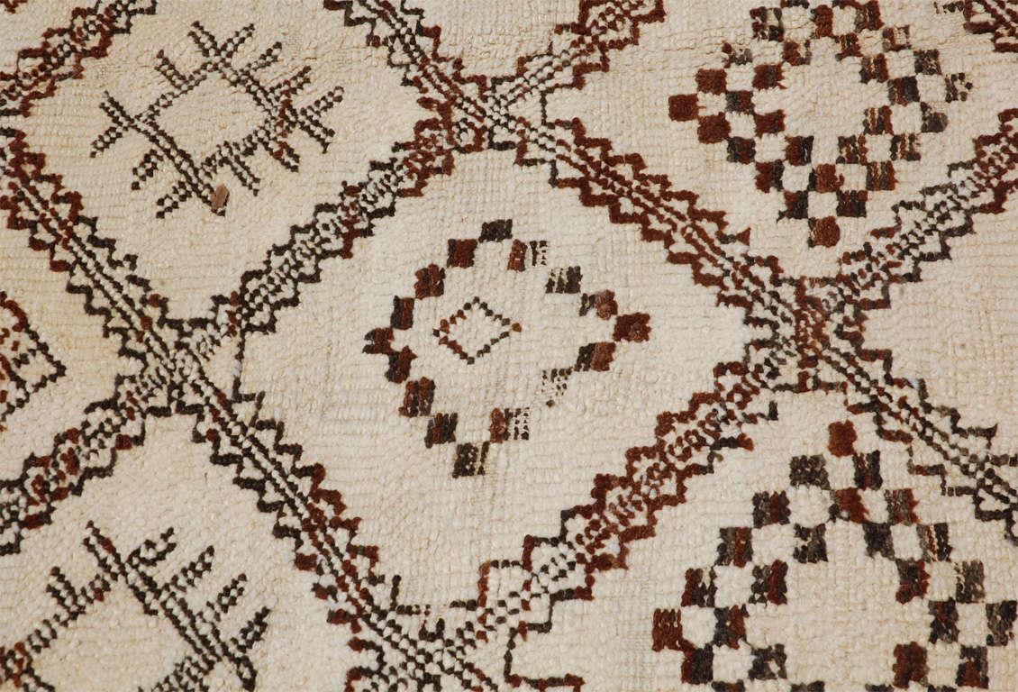 A Vintage Moroccan Tribal Rug image 5