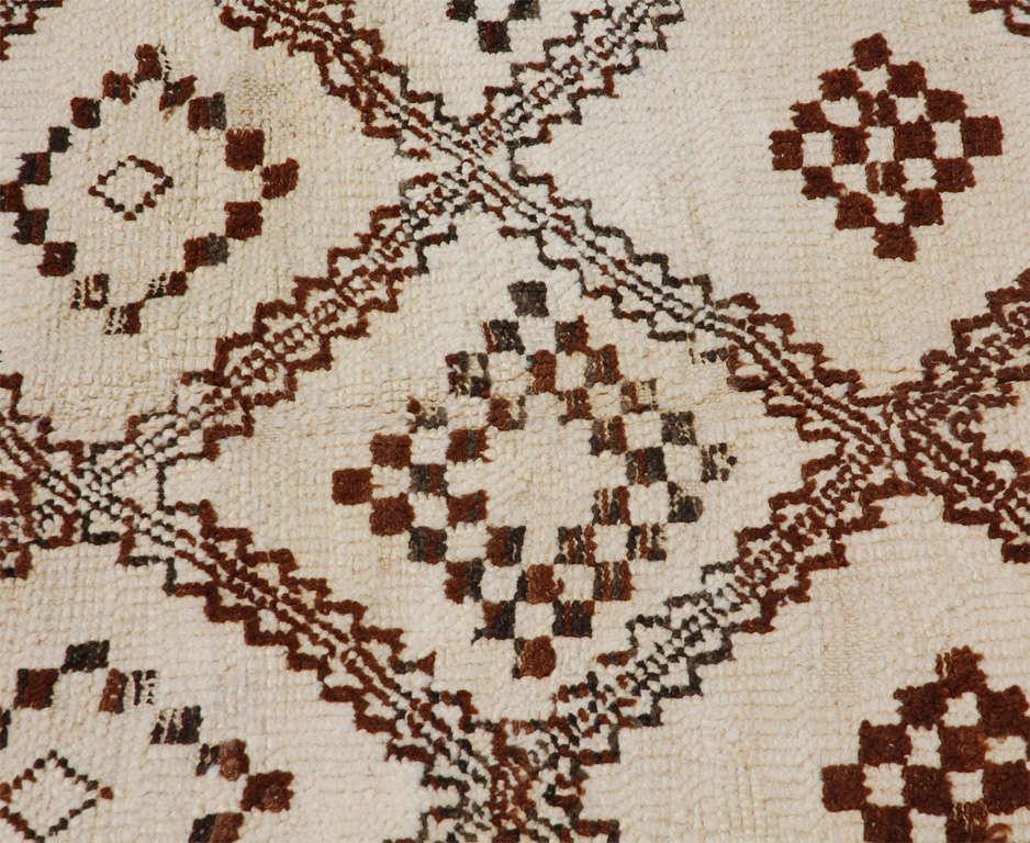 A Vintage Moroccan Tribal Rug image 6