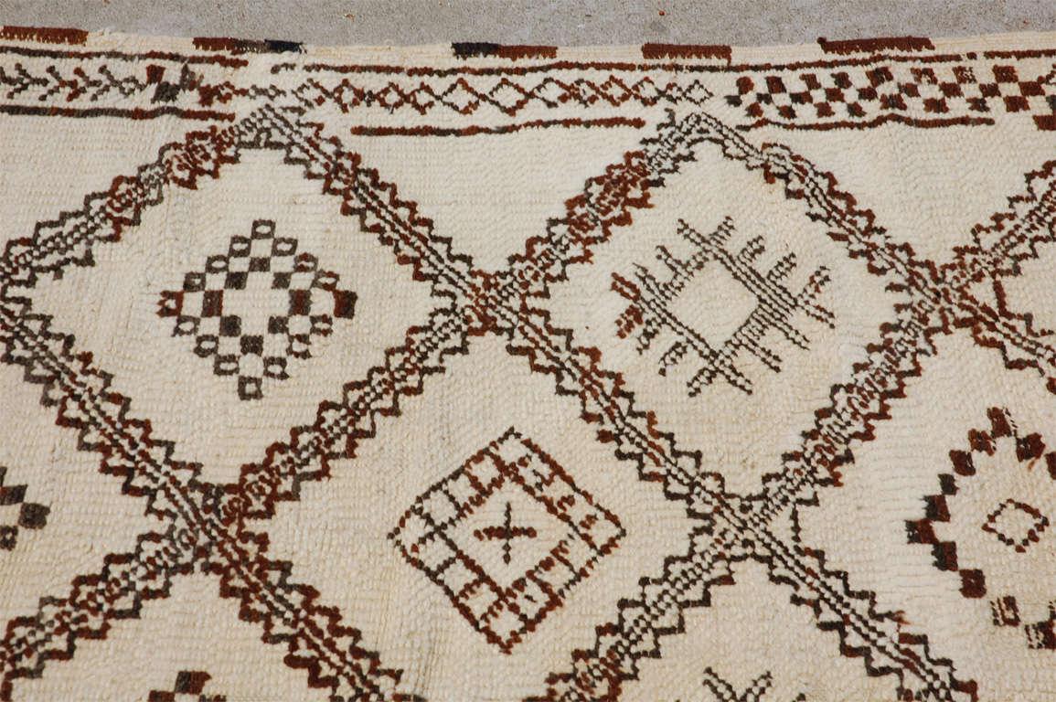 A Vintage Moroccan Tribal Rug image 7