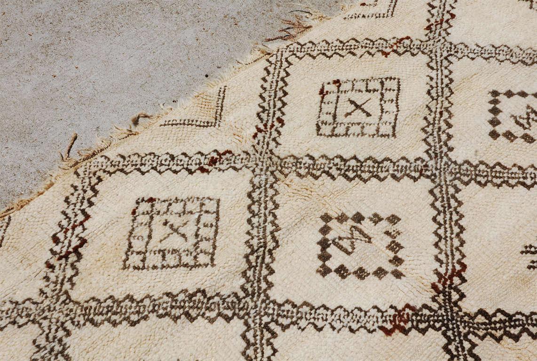 A Vintage Moroccan Tribal Rug image 8