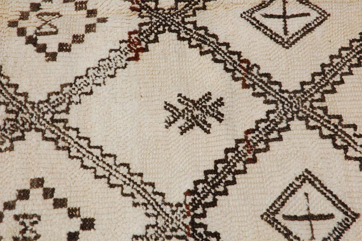 A Vintage Moroccan Tribal Rug image 10
