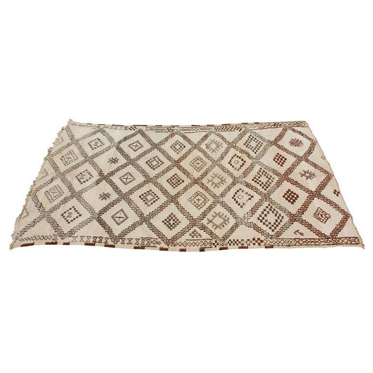 A Vintage Moroccan Tribal Rug