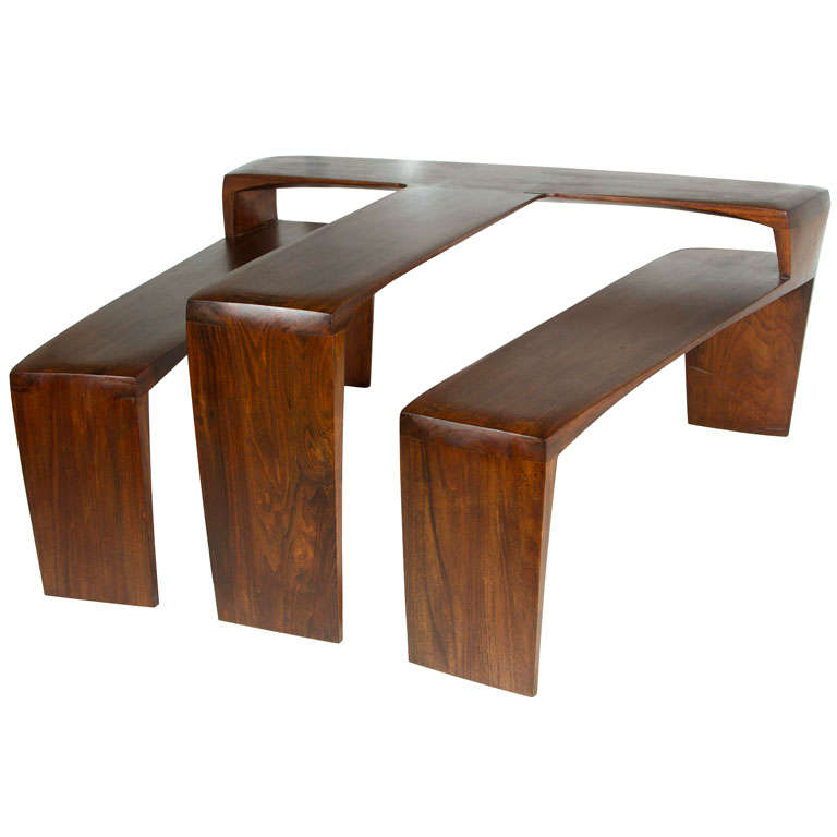 Handcrafted california display coffee table at 1stdibs Handcrafted coffee table