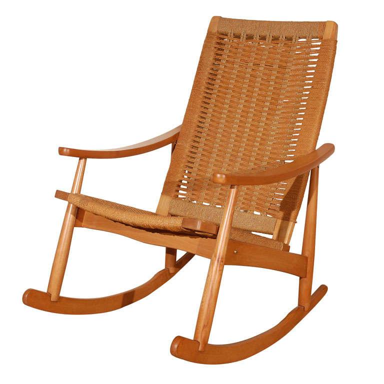 Hans Wegner Style Rocking Chair at 1stdibs