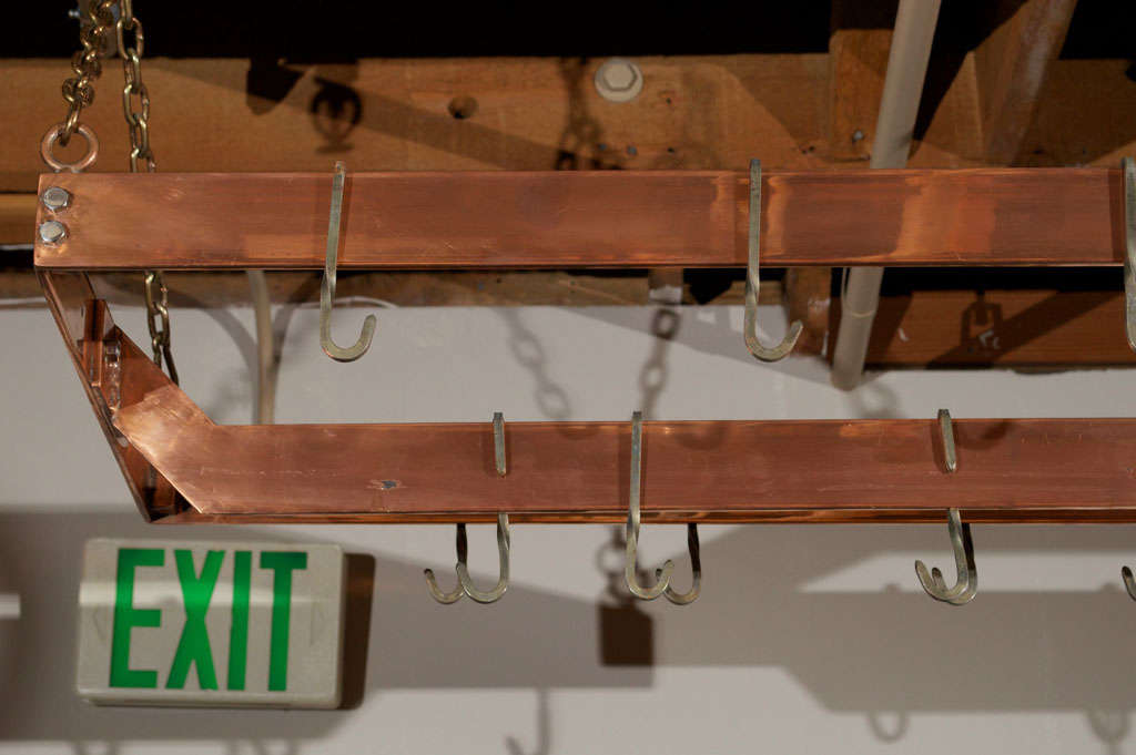 Copper plated Metal Hanging Pot Rack 1