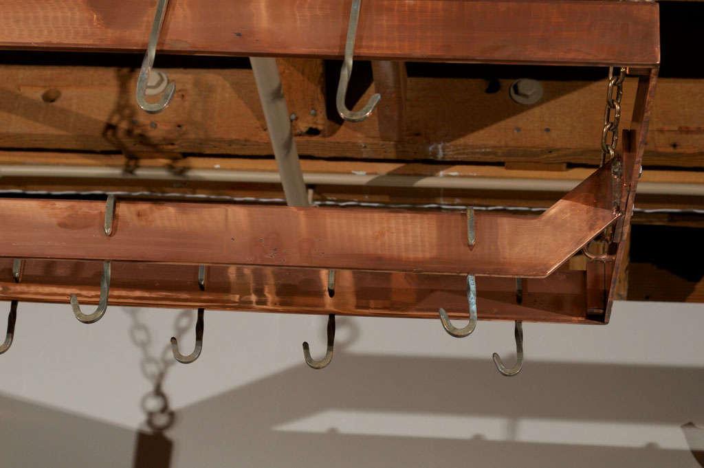 Copper plated Metal Hanging Pot Rack 2
