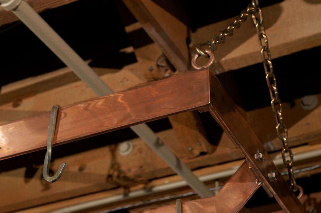 Copper plated Metal Hanging Pot Rack 4