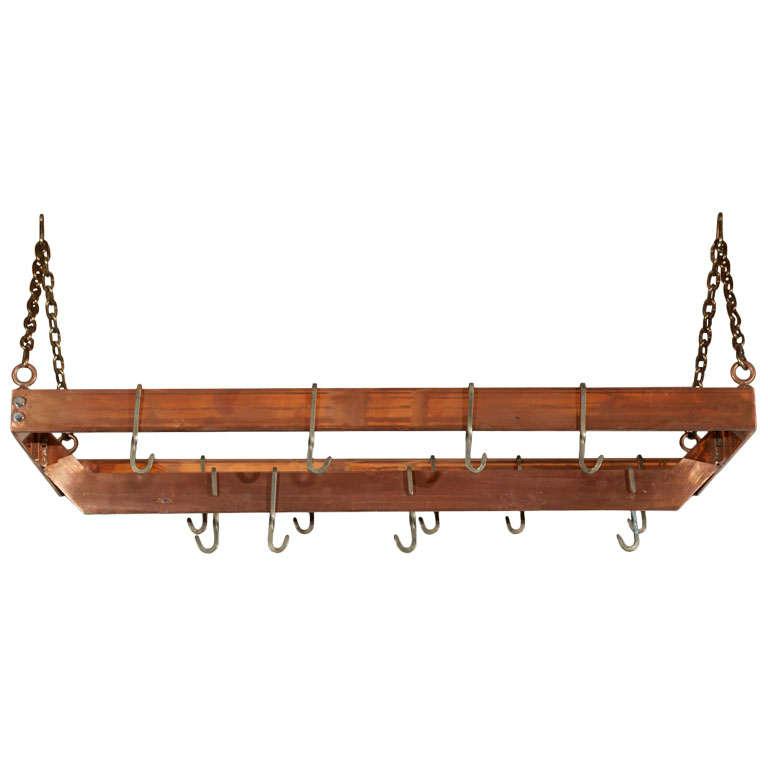 Copper plated Metal Hanging Pot Rack