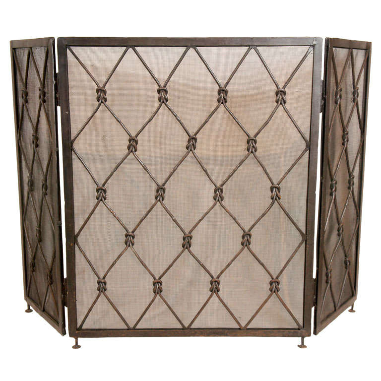 A Wrought Iron Fire Screen At 1stdibs