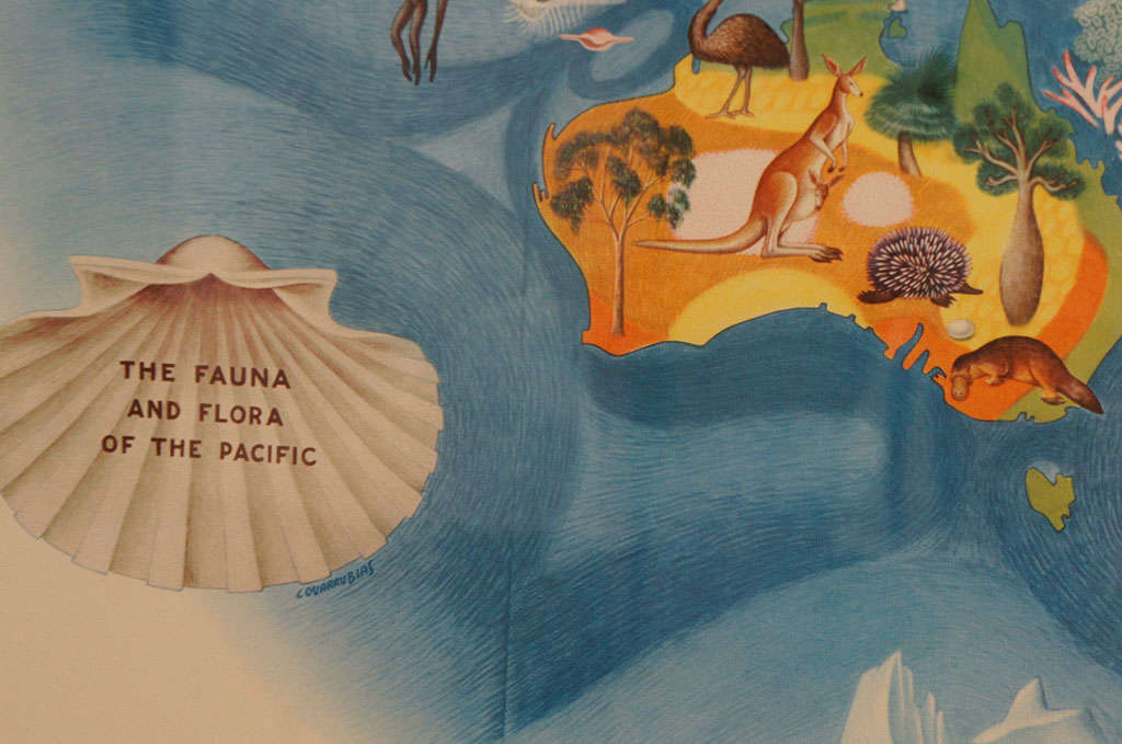 A Set Of Four Miguel Covarrubias Pacific Maps At 1stdibs