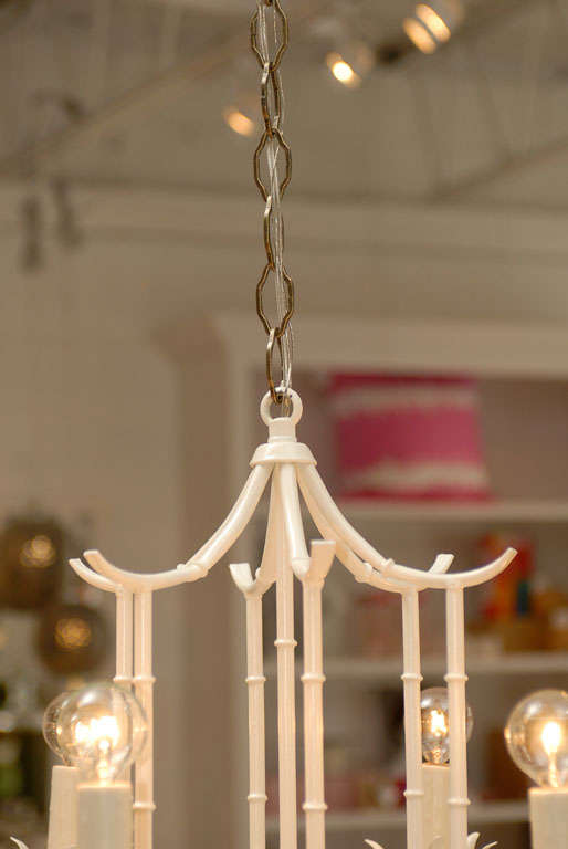 White Pagoda Chandelier at 1stdibs