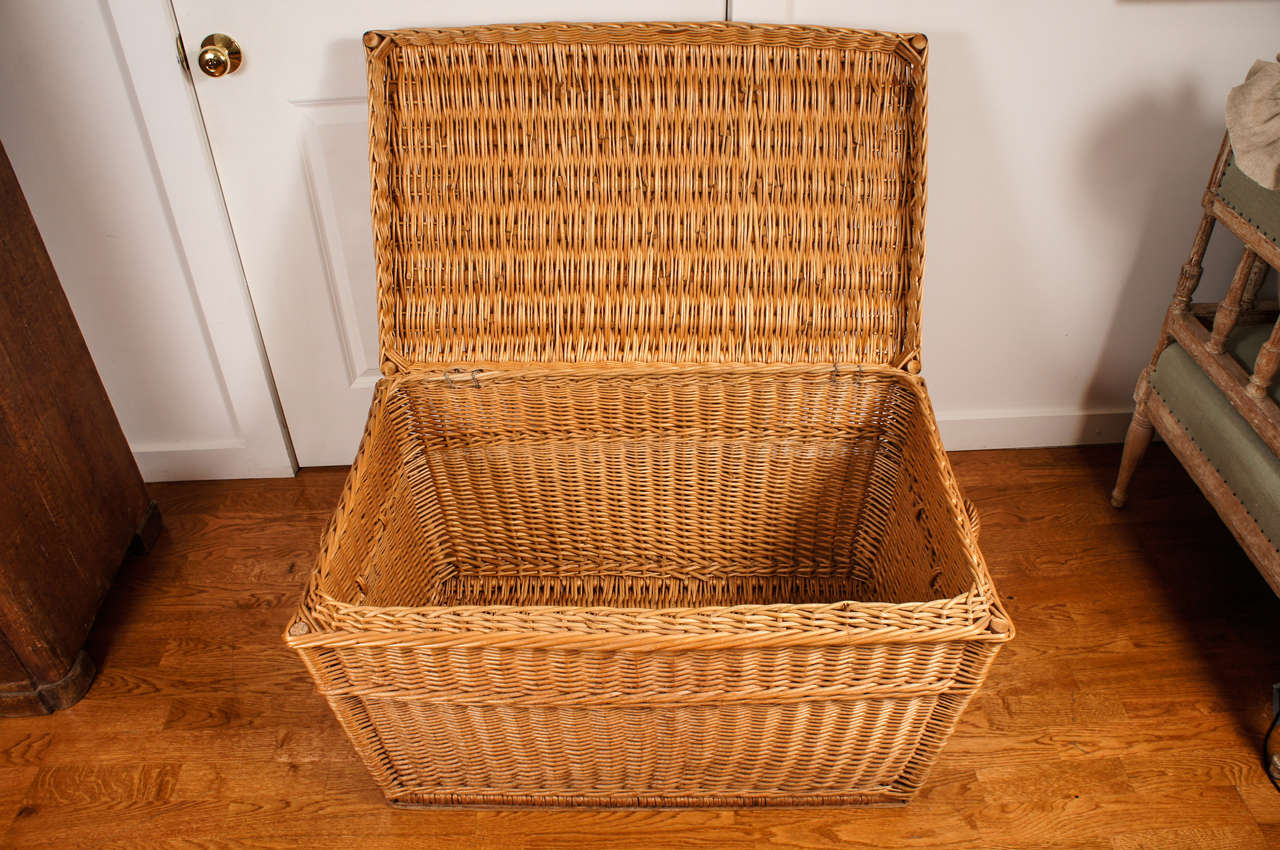 Wicker Chest At 1stdibs